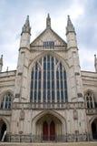 Facciata ad ovest della cattedrale della Winchester immagini stock libere da diritti