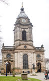 Facciata ad ovest della cattedrale di Birmingham Fotografia Stock