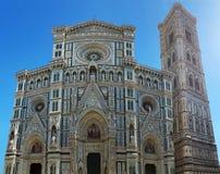 Facciata anteriore della cattedrale di Firenze Capolavoro di marmo italiano fotografia stock