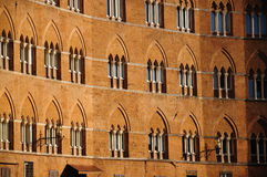 Facciata antica (Siena) Immagine Stock Libera da Diritti