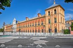 Facciata barrocco del palazzo di San Telmo in Siviglia. La Spagna. immagine stock libera da diritti