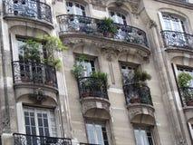 Facciata con i balconi Immagini Stock Libere da Diritti