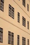 Facciata con le finestre Fotografia Stock Libera da Diritti