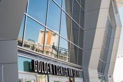 1 facciata concentrare dorata dell'entrata di nanowatt Fotografie Stock