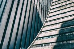 Facciata corporativa concreta moderna della costruzione Immagini Stock
