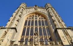 Facciata dalla cattedrale del bagno Fotografie Stock Libere da Diritti