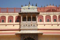 Facciata decorata al palazzo della città, Jaipur, India Fotografie Stock
