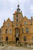 Facciata del castello di Ooidonk Immagini Stock Libere da Diritti