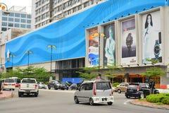 Facciata del centro commerciale di lungomare di Oceanus in Malesia fotografia stock