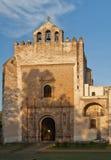 Facciata del convento di Acolman Immagini Stock