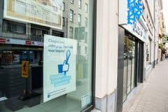Facciata del deposito di pubblicità di Facebook dell'alimento congelata Picard Fotografia Stock