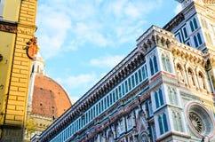 Facciata del duomo dell'IL di Firenze Fotografie Stock Libere da Diritti
