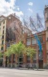 Facciata del fondamento di Antoni Tapies, a Barcellona Fotografia Stock