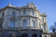 Facciata del Linares del palazzo nella capitale della Spagna, Madrid Immagine Stock