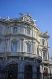 Facciata del Linares del palazzo nella capitale della Spagna, Madrid Fotografia Stock Libera da Diritti