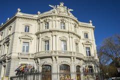 Facciata del Linares del palazzo nella capitale della Spagna, Madrid Immagini Stock Libere da Diritti