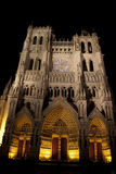 Facciata del main della cattedrale di Amiens Fotografia Stock