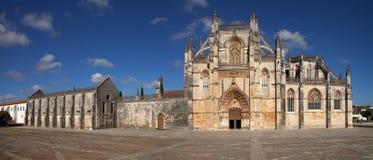 Facciata del monastero di Batalha Immagine Stock