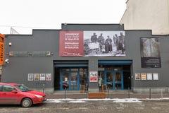 Facciata del museo della Galizia nel distretto di Kazimierz Jewish Cracovia, Polonia Fotografia Stock Libera da Diritti
