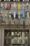 Facciata del museo di Mude di modo e di progettazione Immagini Stock Libere da Diritti