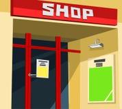 Facciata del negozio illustrazione vettoriale
