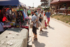 Facciata del negozio della spiaggia Fotografie Stock