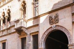 Facciata del oro del ` del ` d di Palazzo Ca sul corso Palladio Immagini Stock