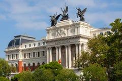 Facciata del palazzo di governo il Ministero di agricoltura a Madrid Fotografia Stock Libera da Diritti