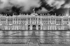 Facciata del palazzo di inverno, Museo dell'Ermitage, St Petersburg, R Fotografia Stock