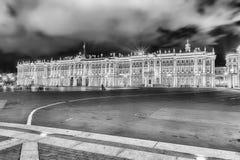 Facciata del palazzo di inverno, Museo dell'Ermitage, St Petersburg, R Fotografie Stock