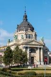Facciata del terme di Szechenyi a Budapest Fotografie Stock