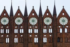 Facciata del townhall di Stralsund immagine stock libera da diritti