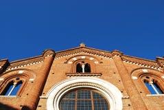 Facciata dell'abbazia di Viboldone Fotografie Stock