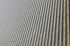 Facciata dell'acciaio del grattacielo Immagini Stock