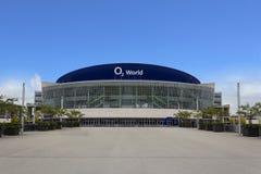 Facciata dell'arena di mondo O2 a Berlino, Germania il 21 maggio 2015 fotografia stock