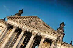 Facciata dell'edificio di Reichstag Immagine Stock Libera da Diritti