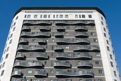 Facciata dell'edificio residenziale Immagine Stock