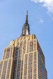 Facciata dell'Empire State Building Fotografia Stock