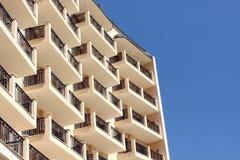 Facciata dell'hotel Fotografia Stock Libera da Diritti
