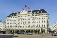 Facciata dell'hotel DÂ'angleterre a Copenhaghen immagini stock