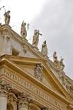 Facciata della basilica del ` s di St Peter Immagini Stock
