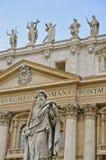 Facciata della basilica del ` s di St Peter, Roma Fotografia Stock Libera da Diritti