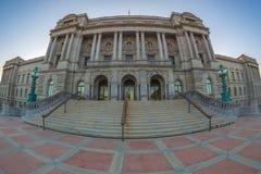 Facciata della Biblioteca del Congresso Thomas Jefferson Building immagine stock libera da diritti