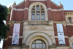 Facciata della biblioteca del museo australiano occidentale, Perth, Australia Fotografia Stock