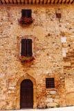 Facciata della Camera a San Gimignano, Italia Fotografia Stock