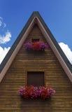 Facciata della casa della montagna Fotografie Stock Libere da Diritti