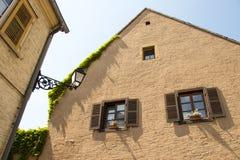 Facciata della casa Il Lussemburgo immagine stock