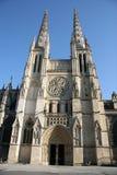 Facciata della cattedrale, Bordeaux Fotografie Stock