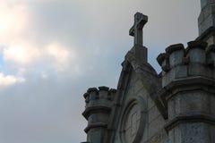 Facciata della cattedrale cattolica Fotografia Stock