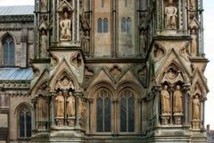 Facciata della cattedrale dei pozzi Fotografia Stock Libera da Diritti